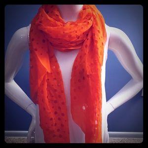 Orange Express scarf